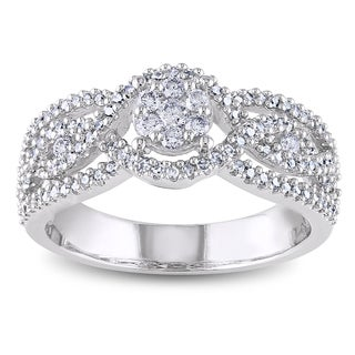 Miadora 14k White Gold 1/2ct TDW Diamond Composite Ring (G-H, I1-I2)