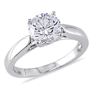 Miadora 14k White Gold 1 3/4ct TDW Certified Solitaire Diamond Ring (J-K, SI1-SI2) (GIA)