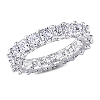 Miadora 18k White Gold 4 5/8ct TDW Diamond Eternity Ring (G-H, S I1-SI2)