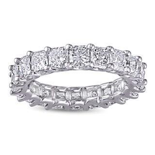 Miadora 18k White Gold 4 5/8ct TDW Diamond Eternity Ring (G-H, S I1-SI2)