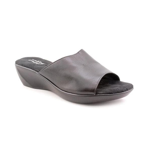 Walking Cradles Women's 'Alva' Leather Sandals - Wide (Size 7 )