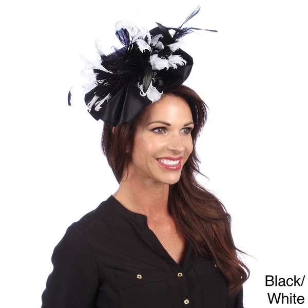 Swan Women's Ostrich Feather Satin Fascinator