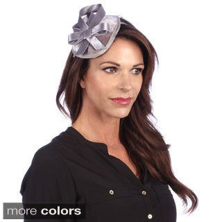 Swan Women's Sinamay Covered Velvet Fascinator