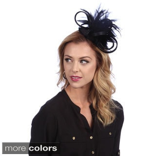 Swan Woman's Covered Satin Fascinator