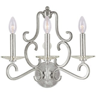 Orleans 3-light Olde Silver Wall Sconce