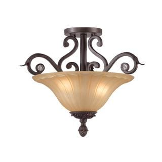 Winslow 3-light Dark Rush Semi-flush