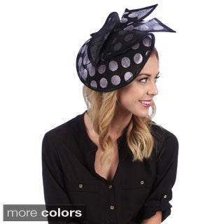 Swan Women's Sinamay covered with Velvet Dots Fascinator