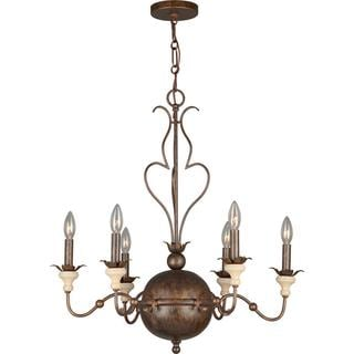Amelia 6-light English Bronze Chandelier