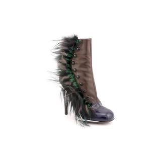 Fendi Women's 'Victorian Fur' Leather Boots (Size 7 )