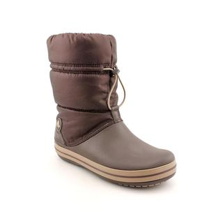 Crocs Women's 'Crocband Winter' Brown Synthetic Boots (Size 4 )