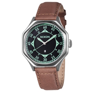 Nixon Men's 'The Falcon Leather' Stainless Steel Watch