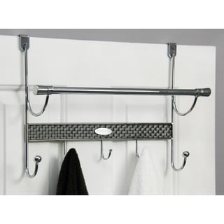 Over-the-door 5-hook Chrome Towel Rod