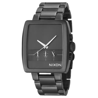 Nixon Men's 'The Axis' Gunmetal Plated Stainless Steel Chronograph Watch