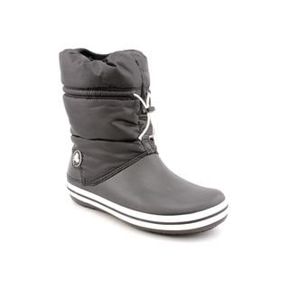 Crocs Women's 'Crocband Winter' Black Synthetic Boots (Size 4 )