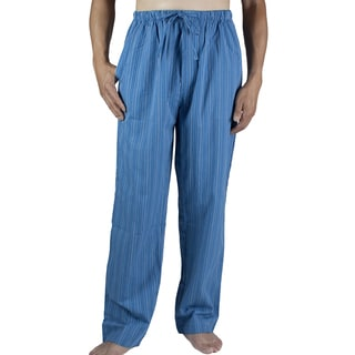 Leisureland Men's Blue Striped Cotton Lounge Pants