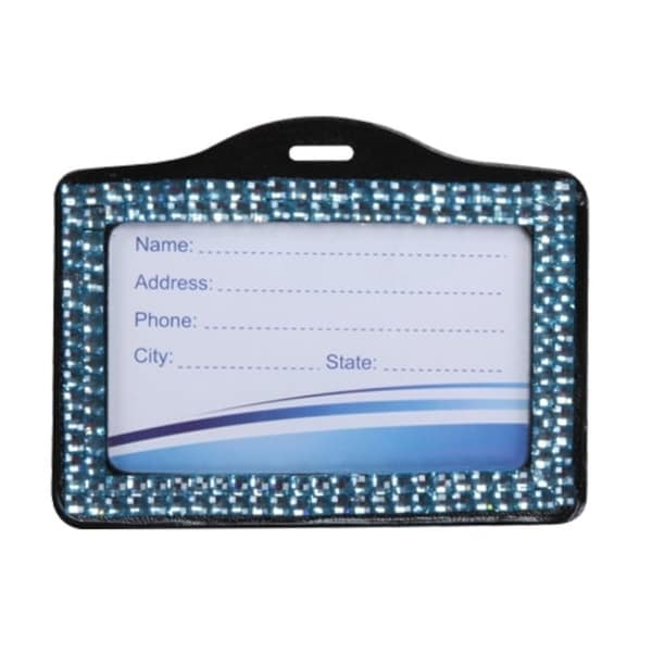 INSTEN Baby Blue Horizontal Business Card Holder
