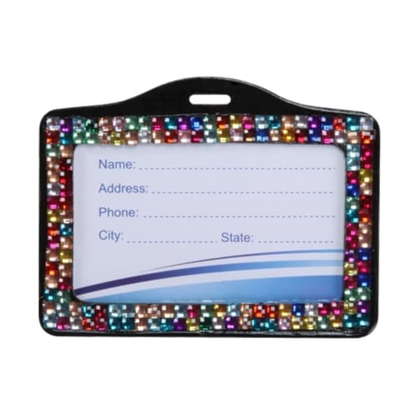 INSTEN Multi-color Horizontal Business Card Holder
