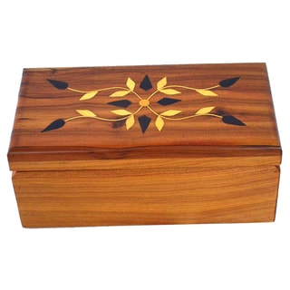 Handmade Wood Inlaid Cedar Box (Morocco)