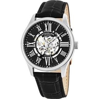 Stuhrling Original Men's Atrium Black Automatic Strap Watch