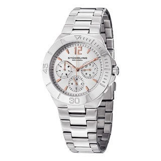 Stuhrling Original Women's Lady Capital Quartz Bracelet Watch Silver Tone
