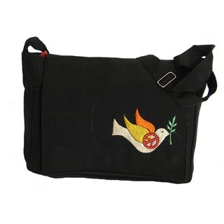 Jean Shoulder Bag and Peach Dove (Nepal)
