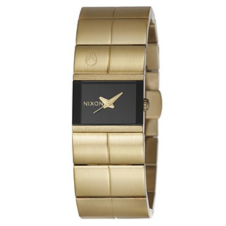 Nixon Women's 'The Cougar' Yellow Gold Plated Stainless Steel Watch