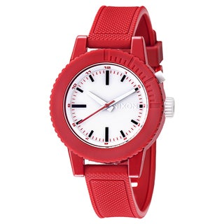 Nixon Women's 'The Gogo' Red Polycarbonate Watch