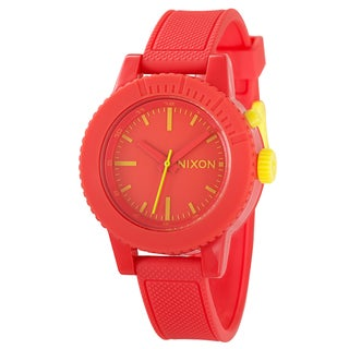 Nixon Women's 'The Gogo' Polycarbonate Watch with Yellow Markers