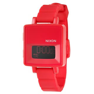 Nixon Women's 'The Trigital' Red Polycarbonate Strap Alarm Digital Watch
