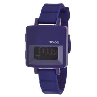 Nixon Women's 'The Trigital' Purple Polycarbonate Strap Alarm Digital Watch