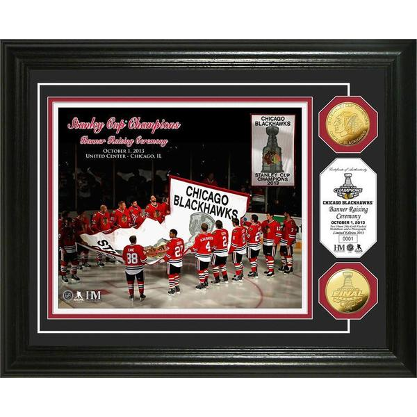 Chicago Blackhawks 2013 Stanley Cup Banner Raising Ceremony Coin Frame