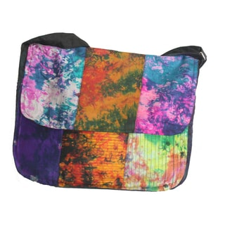 Silk Tye Dye Messenger Bag (Nepal)
