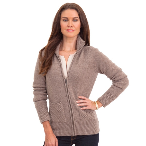 Luigi Baldo Women's Italian Cashmere Full-zip Sweater