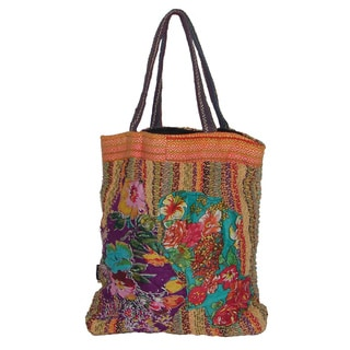 Cotton Applique Tote Bag (Nepal)