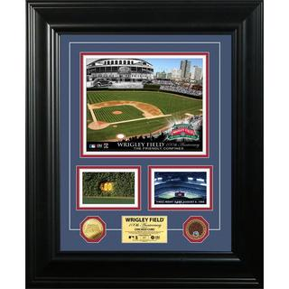 Wrigley Field 100th Anniversary Marquee Game Dirt Coin Photo