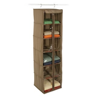 Richards Homewares Cedar Inserts Canvas 6-shelf Hanging Organizer