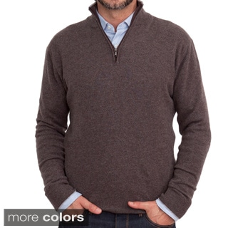 Luigi Baldo Italian Made Men's Cashmere 1/4 Zip Sweater