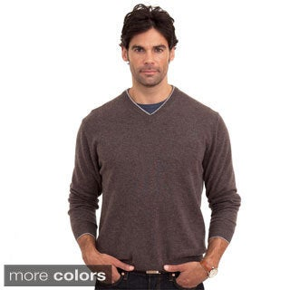 Luigi Baldo Italian Made Men's Cashmere V-Neck Sweater