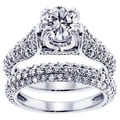 14k/ 18k Gold or Platinum 4 1/2ct TDW Round Diamond Bridal Ring Set (F-G, SI1-SI2)