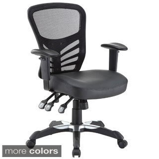 Articulate Mesh Office Chair with Fully Adjustable Black Vinyl Seat