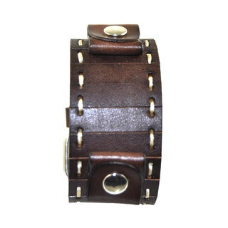 Nemesis Stitch Leather Cuff Brown Band