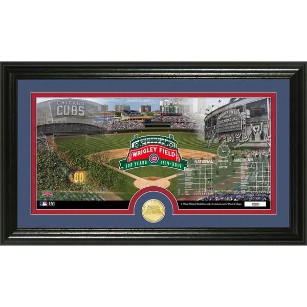 Wrigley Field 100th Anniversary Bronze Coin Panoramic Photo