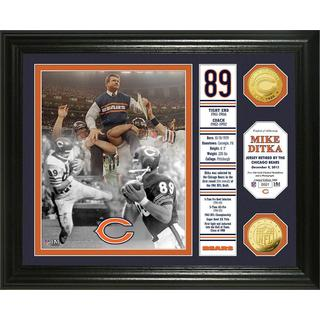 Chicago Bears Mike Ditka Jersey Retirement Banner Gold Coin Photo Mint