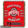 NCAA Big Ten Conference School Tapestry Throw