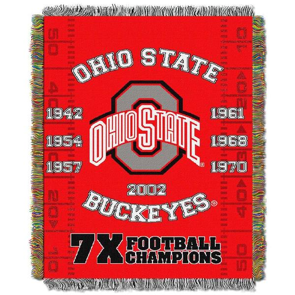 NCAA Big Ten Conference School Tapestry Throw