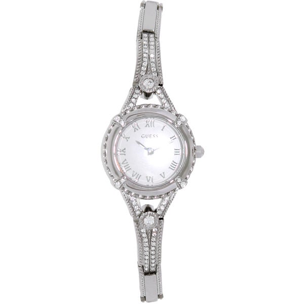 Guess Women's U0135L1 Silver Stainless-Steel Quartz Watch with Silver Dial