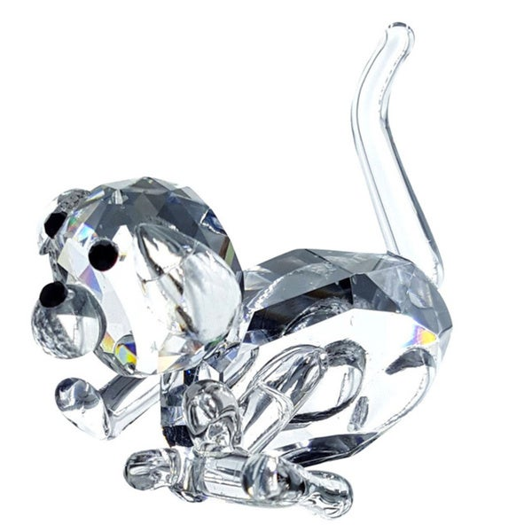 Crystal Florida Crystal Puppy Dog Figurine with Bone