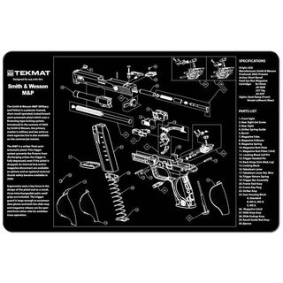 Tekmat Smith & Wesson M&P Handgun Mat 17-SWMP