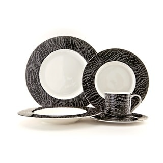 Red Vanilla 'Sabi Black' 5-piece Place Setting