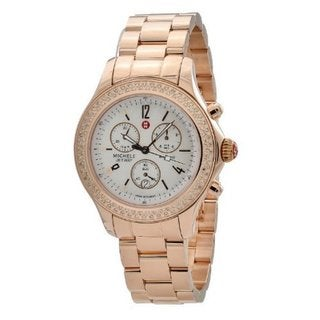 Michele Women's 'Jetway' Diamond Bezel Watch